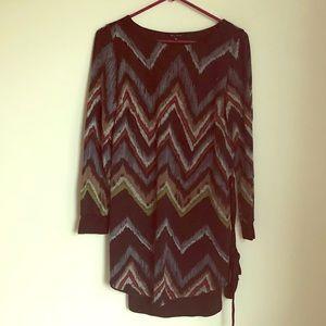 Cute chevron patterned dress.